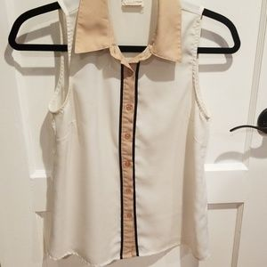 Urban Outfitters Sleeveless Collared Blouse